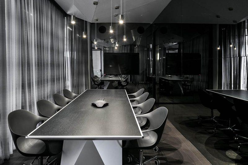 עיצוב חדר הישיבות חברת שרם